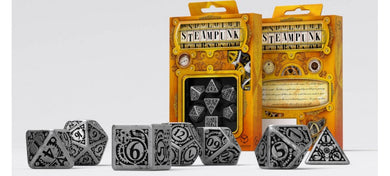 Q Workshop Metal Steampunk Dice Set (7) BOX