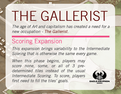 The Gallerist Scoring Expansion