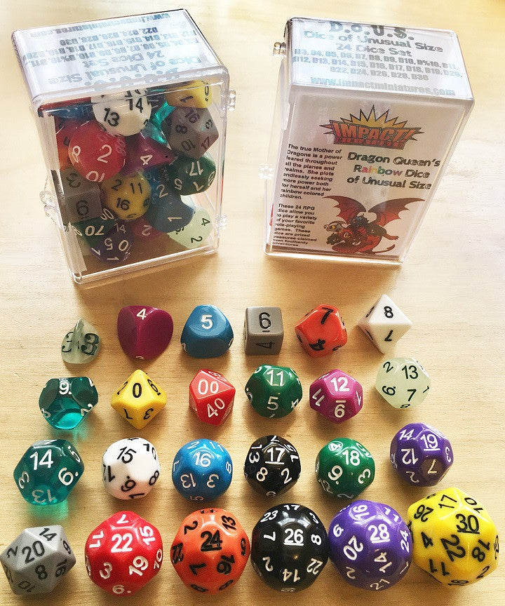 D.O.U.S (Dice of Unusual Size) D3 to D30 Rainbow