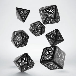 Q Workshop Black & white Steampunk Dice Set
