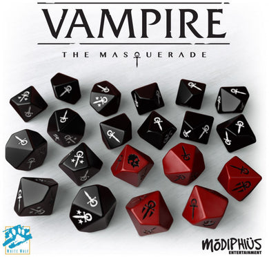 Vampire the Masquerade Dice Set (20 Custom 10-sided Dice)