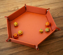 "Load image into Gallery viewer, Hex Dice Tray 8"" Red"