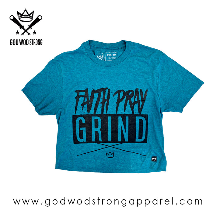 FAITH PRAY GRIND WOMENS CROP TOP