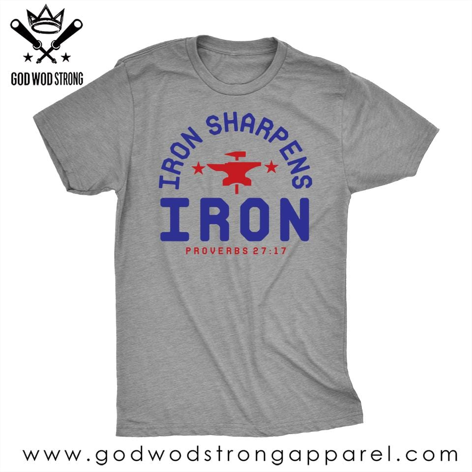 IRON SHARPENS IRON MENS T-SHIRT