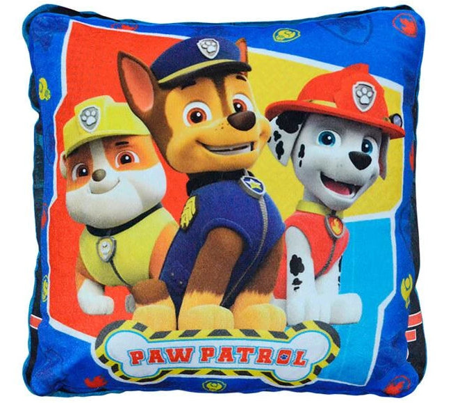 Cojin Velour 38x38 Paw Patroll Bone