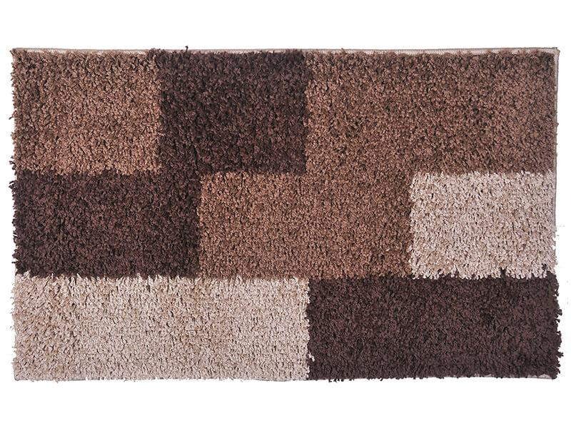 Alfombra Shaggy 1.8k Studio 50x90 Tableado Chocolate