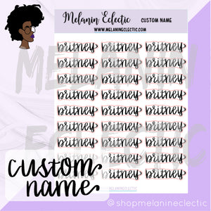 Custom Name Sticker Sheet
