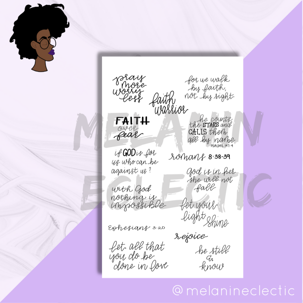Faith Planner Stickers