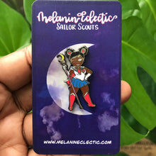 Load image into Gallery viewer, Sailor Melanin Moon Enamel Pin