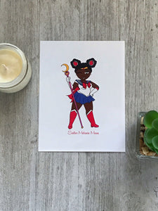 Sailor Melanin Moon Print