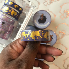 Load image into Gallery viewer, 15 mm Purple/ Gold Holo Washi