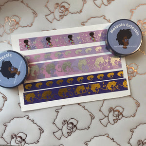 15 mm Purple/ Gold Holo Washi