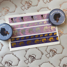 Load image into Gallery viewer, 10 mm Purple/Gold Holo Washi