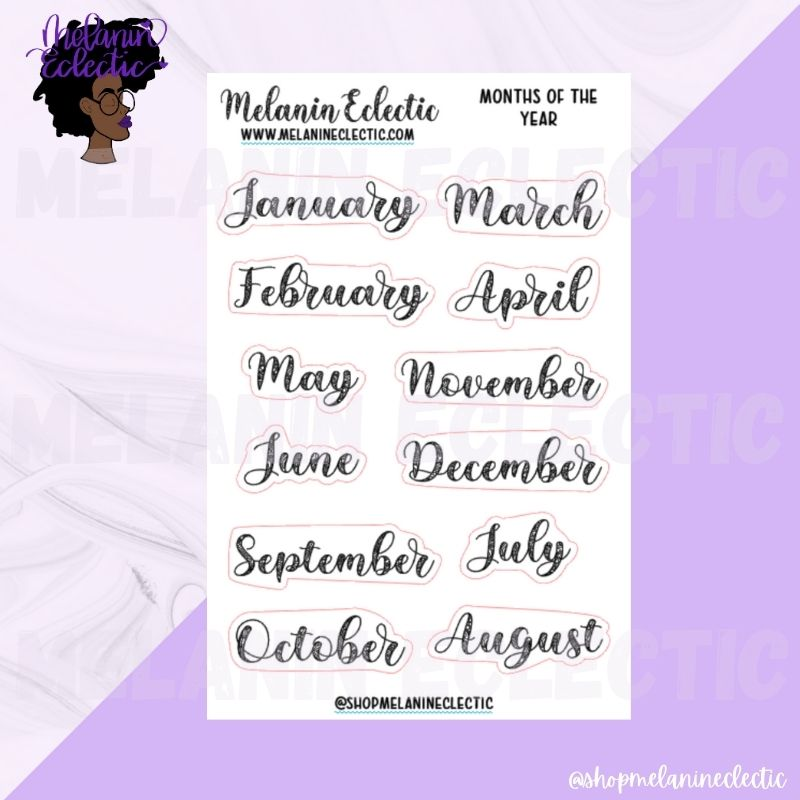 Reading Planner - Months of the Year