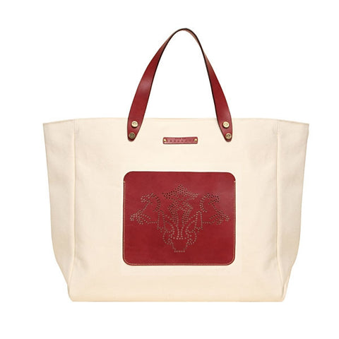 Large Yacht Tote- Cherry
