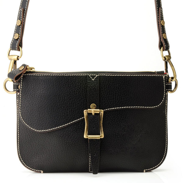Jet Black - European Leather Harmony Crossbody