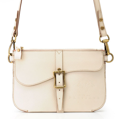 Cream White - European Leather Harmony Crossbody