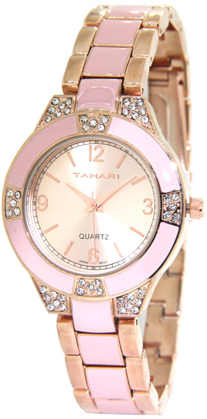 Tahari Women's Quartz Fashion Watch (Blush/Rose)