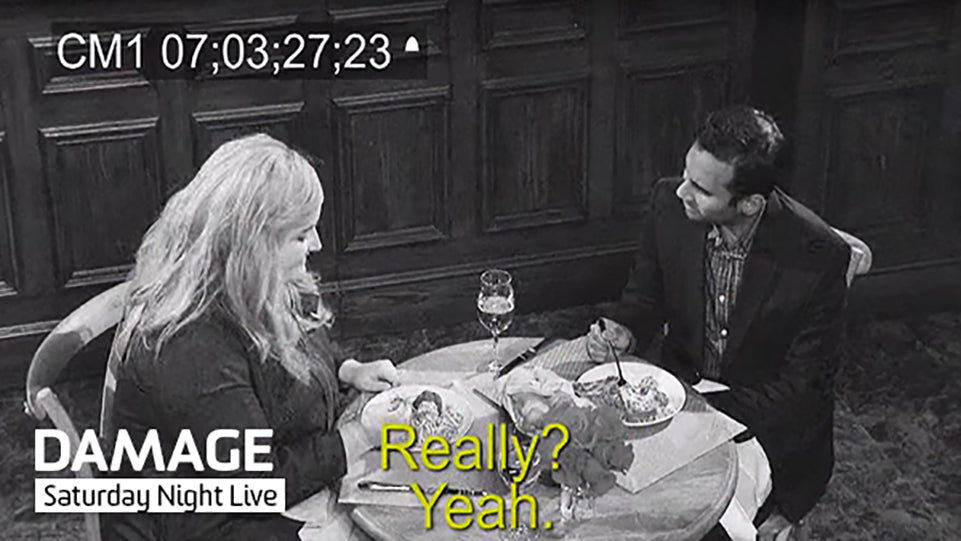 Saturday Night Live Security Camera Look With DAMAGE