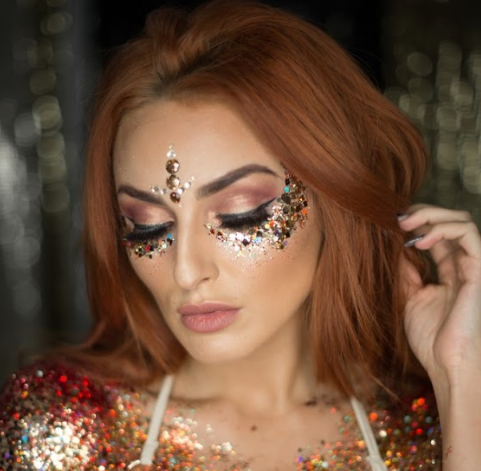 creative glitter makeup ideas to try yourself  wish upon