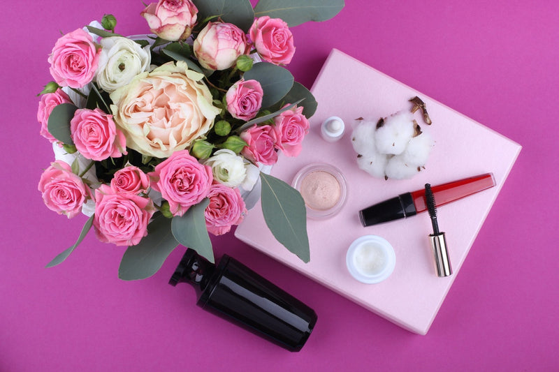 Flowers and makeup products for simple ways to go green