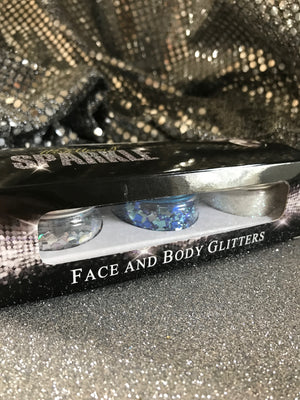 Blue Diamond Collection - Blue, Silver & White Glitter 3 Pack