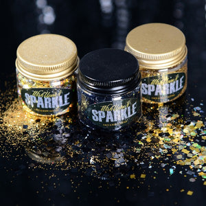 Cosmic Collection - Black & Gold Glitter 3 Pack
