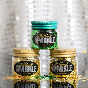 Jingle Bells Green & Gold Glitter 3 Pack