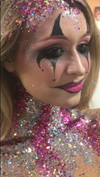 Crazy Clown - Pink & Silver Halloween Glitter Set