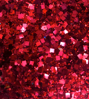 red glitter close up