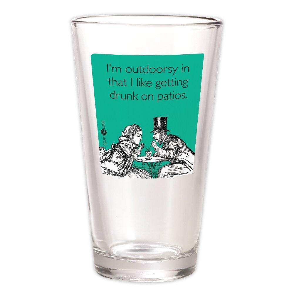 Outdoorsy Pint Glass