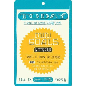 Mini Goals Notepad