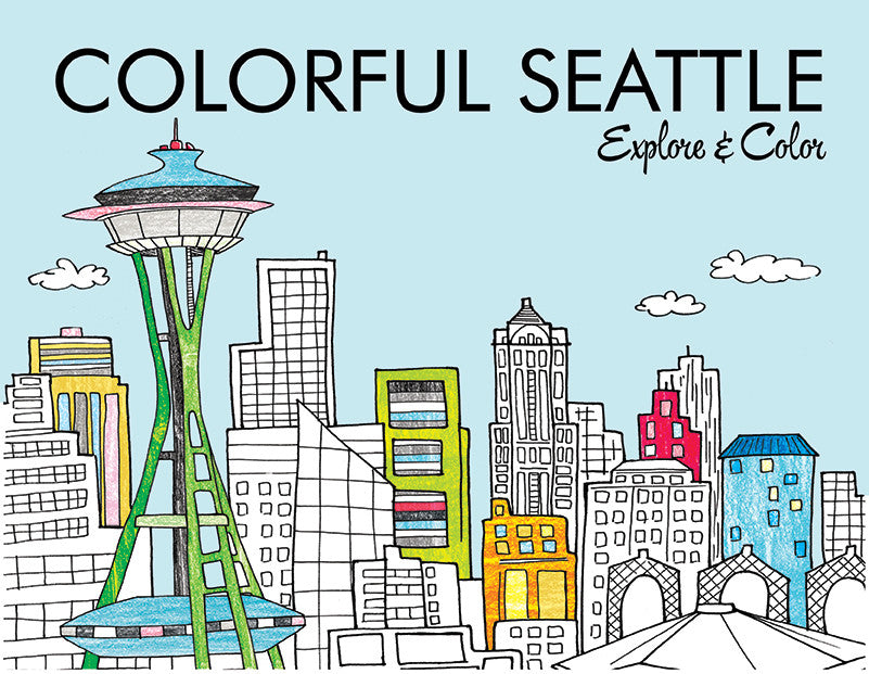 Colorful Seattle Coloring Book