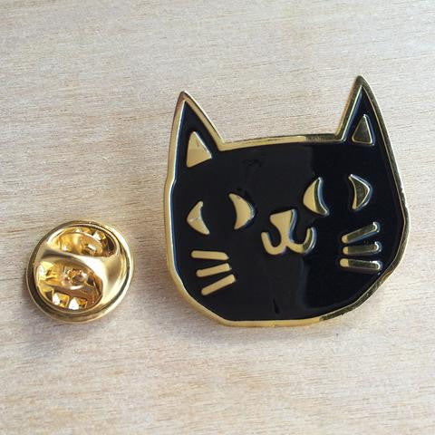 Black Cat Lapel Pin