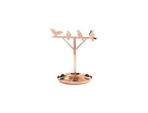 Copper Bird Jewelry Stand
