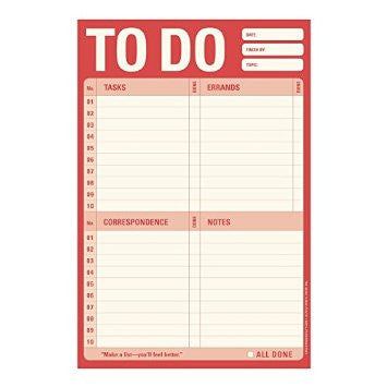 To Do Note Pad