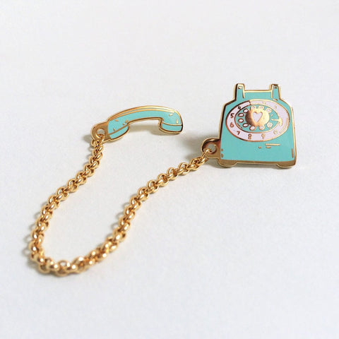 Rotary Phone Lapel Pin