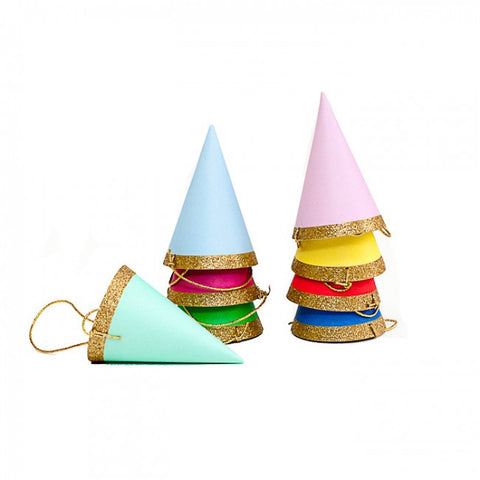 Mini Glitter Party Hats