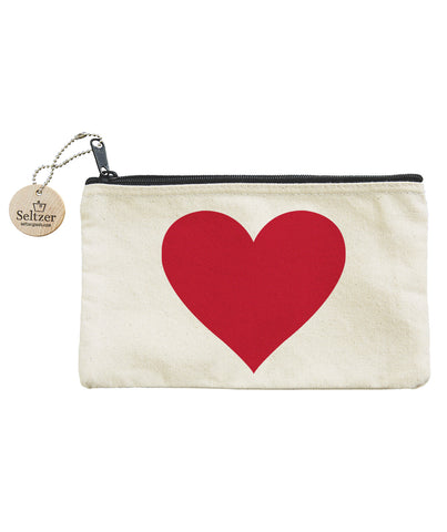 Big Red Heart Pouch