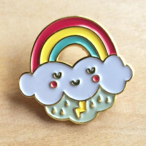 Rainbow Cloud Lapel Pin