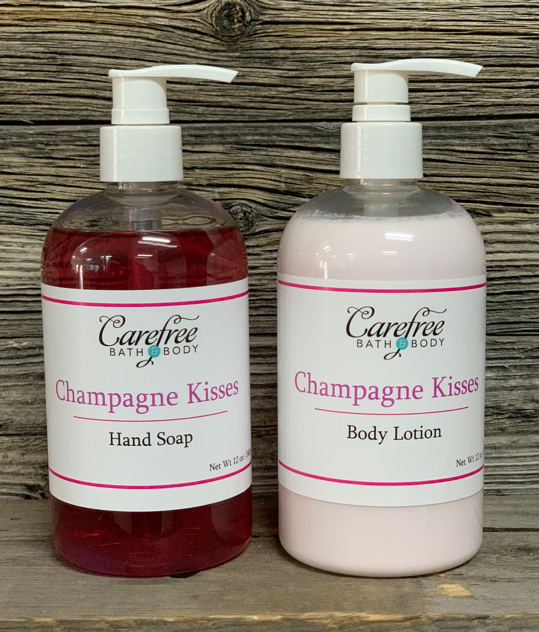 Champagne Kisses Lotion & Liquid Soap Set