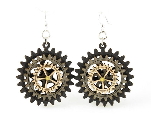 Kinetic Gear Earrings 4E