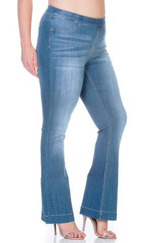 Mid Rise Flare Jegging - Plus