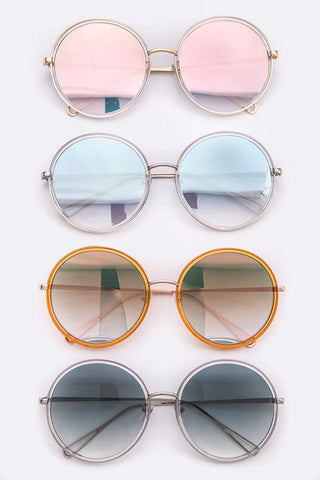 Assorted Round Reflective Sunglasses