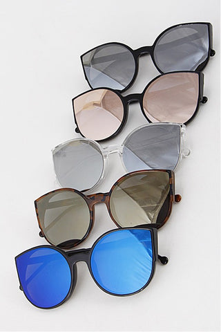 Reflective Large Petal Sunglasses