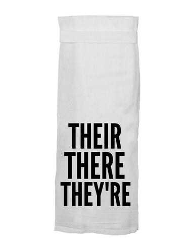 Their There They're Kitchen Towel
