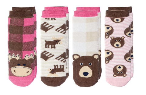 Moose / Brown Bear - Cabin Socks