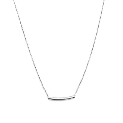 Bend Necklace - Silver