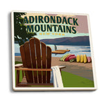 Adirondack Chair Lake Coasters - Adirondack Mountains New York