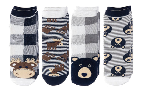 Moose / Black Bear - Cabin Socks